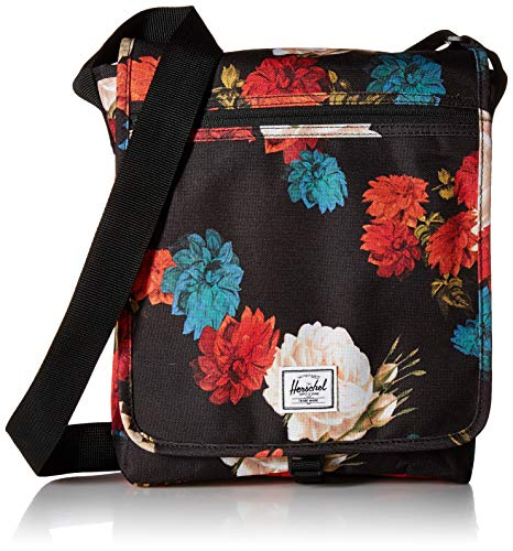 Herschel Lane Cross Body Bag, Vintage Floral Black, Large