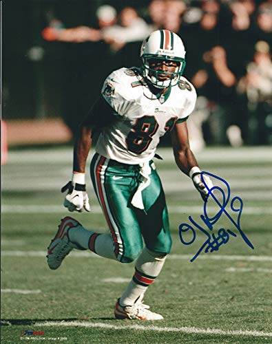 Autographed O.J. McDuffie 8x10 Miami Dolphins Photo