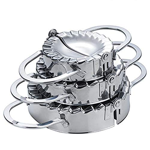 CHAWHO 3 Pièce Acier Inoxydable Boulettes Maker - Tarte Ravioli Dumpling Pâtisserie Pâtes Moules pour Accessoires de Cuisine (Petit Milieu Grand)