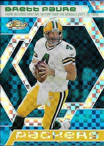 2006 Topps Favre Finest Moments Blue Xfractor Brett #BF18 Fixed price for Ranking TOP20 sale