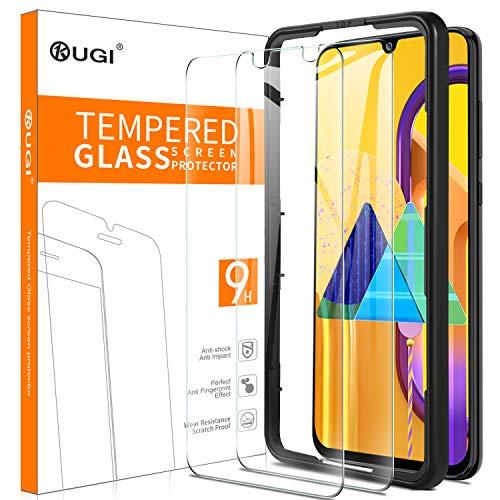 KuGi. Panzerglasfolie Displayschutzfolie Ersatz für Samsung Galaxy M30s, 9H Hartglas HD Glas Blasenfrei Displayschutzfolie Passt Ersatz für Samsung Galaxy M30s Smartphone. Klar(2 Stück)