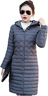 Women's Winter Coat Puffer Jacket Packable Lightweight Hooded Slim Warm Outdoor Sports Travel Parka Outerwear