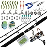 Dr.Fish Catfish Rod and Reel Combo Kits with Tackles 7ft Heavy Catfishing Fishing Pole Baitfeeder...