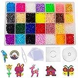 shafier 11120 PCS Perler Beads 28 Colores Fuse Beads para Nios y Adulto DIY Patrn Arte de Pared pixelado en 2D Juguetes Educativos Cuentas de Artesana