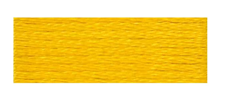 DMC 6-Strand Embroidery Cotton Floss, Deep Canary