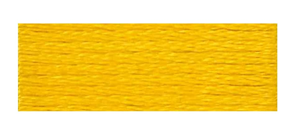DMC 6-Strand Embroidery Cotton Floss, Deep Canary