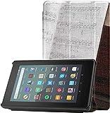 Funda para Kindle Fire A FUUNY Dog Play The Piano Funda para Tableta Fire 7 para Tableta Fire 7 (nov...