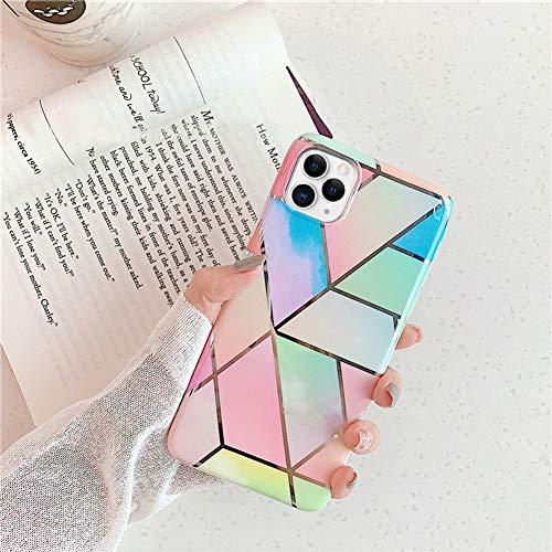 JAWSEU Compatible avec iPhone 11 Pro Coque Brillante Bling Glitter Paillettes Marbre Motif Slim Placage Souple TPU Silicone Gel Etui Housse de Protection Anti-Choc Bumper Coque,#6