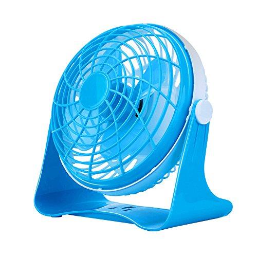 Ventola mini mini usb due mute ventola office student ostelli bed Ventilatore da tavolo, blu