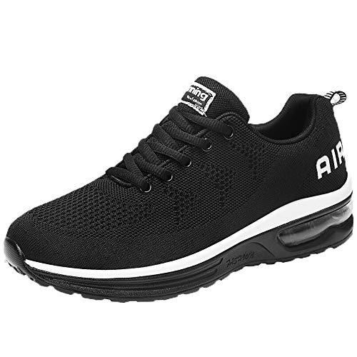 Zapatillas de Running para Hombre,BBestseller Zapatillas para Hombre Zapatillas de Senderismo para Hombre al Aire Libre Fitness Casual Sneakers Invierno (44 EU, Negro)