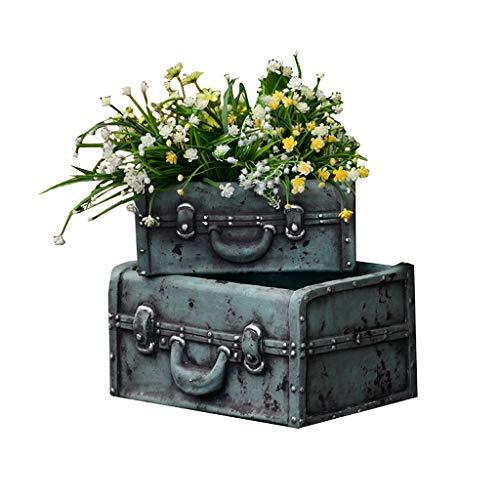 Succulents Plant Pot, Indoor Outdoor Flower Trough Planter Retro Creative Suitcase Flower Pot, Home Garden Plant Containers Decoration