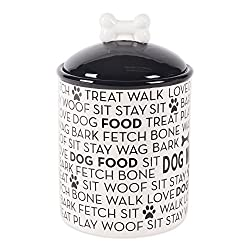 Bone Dry DII Ceramic Pet Food & Water Sets, Perfect Feeding and Treat Storage Supplies for Dogs and Cats