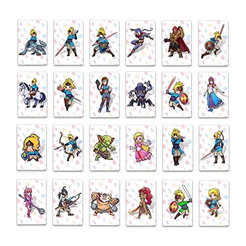 젤다의 전설:야생 AMIIBO 카드의 숨결 스위치 황야 AMIIBO 젤다 카드에 적합한 링크 카드의 전체 세트(작은 카드)