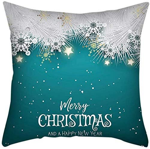 XXLYY Merry Christmas Linen Pillowcase Home Nordic Style Cushion Christmas Pillowcase for Living Room Bedroom Cover Decoration Decor Cushion Throw Pillow Case for Chair, Car, Home 45cm X 45cm