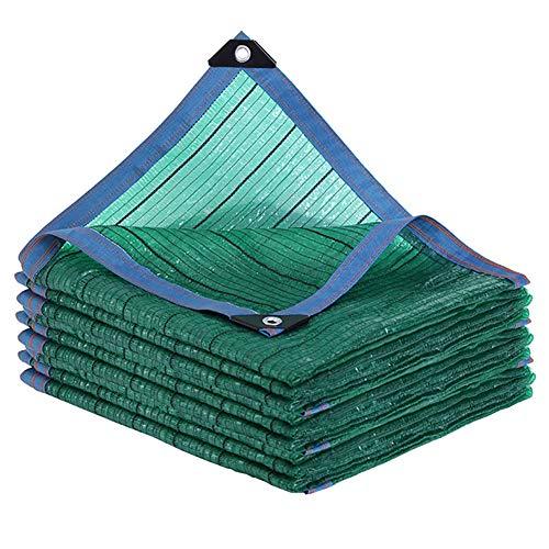YXX-Filet d'ombrage Tissu parasol 95% avec bord coupé et presse-étoupes - Filet résistant aux UV pour couverture et piscine pour plantes de jardin - Vert (Size : 5mx10m)