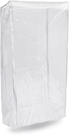 """New Star Foodservice 36565 Commercial-Grade Sheet Pan/Bun Pan Rack Cover, Plastic, 20-Tier, 28"""" L x 23"""" W x 61"""" H, Clear"""
