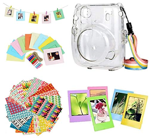 JXE Kit de cámara compatible con Fuji Instax Mini 11, funda transparente...