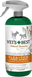 Vet's Best Natural Flea Plus Tick Home Spray, 32 Ounce