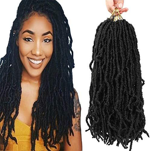 New Soft Locs Crochet hair 18 inch 6 Packs Faux locs Curly Wavy...