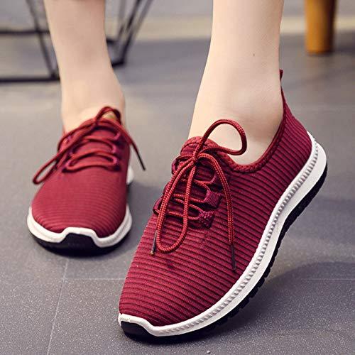 JMAR Zapatillas Hombre Mujer Zapatillas Ligeras para Correr - Caminar Casual Atlético Gimnasio Fitness Zapatillas Deportivas, Zapatos Cómodos para Caminar De Mediana Edad Y Ancianos