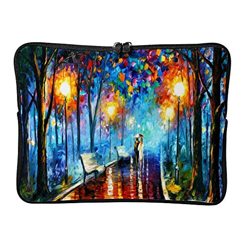 Normal lovers hiking on autumn painting laptop bags patterned multifunctional - landscape laptop bags suitable for business trip