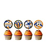 20 Cupcake Toppers for Nerf Cupcake Topper Wrappers Set Cake Decorations for Children
