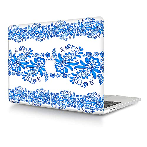 ACJYX Compatible with MacBook Pro 13 inch Case 2016-2020 Release A2338 M1 A2251 A2289 A2159 A1989 A1706 A1708, Matte Plastic Hard Protective Case Shell Cover - Blue Lace