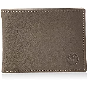 Timberland Men's Leather RFID Blocking Passcase Security Wallet, Charcoal, One Size