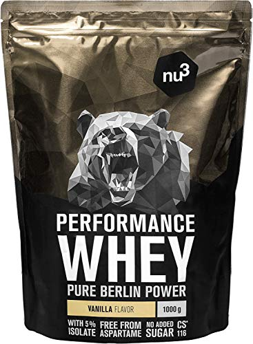 nu3 Whey Protein performance - 1kg Vanille – 33...