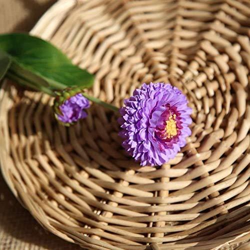 XCVB kunstbloem bodembedekker chrysant bonsai, chrysant vaste plant bonsai bloem plant daisy ingemaakte tuin, paars