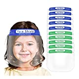 10 Pack Face Shields for Kids,Veki Kids Anti-Fog Face Protective with Clear Vision Shields Face_masks with Elastic Band