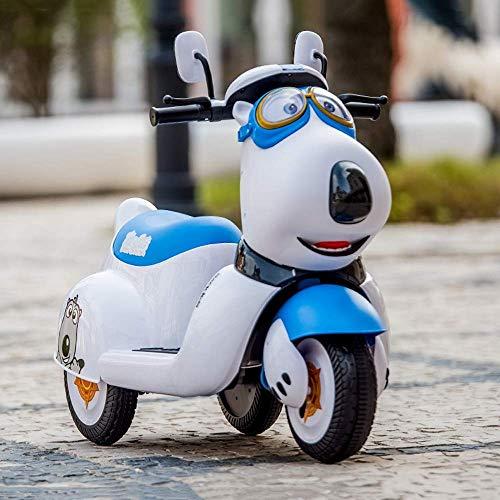 WGFGXQ Coche eléctrico de Dibujos Animados para niños, Motocicleta Puede sentar Personas,...
