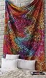 Tapiz Mandala Colgar en la Pared -Multicolor Tapices Decorativo Cubierta Decorativa Casera Etnica India Tapestry - Multicolor - 213 x 137 cm