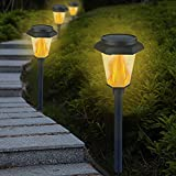 COOLWEST Solar Garden Lights Outdoor, LED Torches...