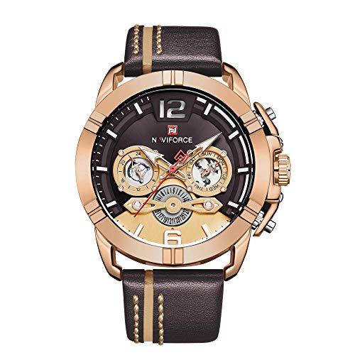 Relojes de Pulsera de Negocios de Moda de Cuarzo clásico analógico para Hombre-E
