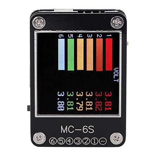 MC-6S Voltage Checker, 1‑6S Lipo Battery Voltage Checker-Empfängersignaltester für PPM-PWM- und DSM-Empfänger mit s-Bus(Schwarz)