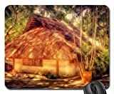 lovely island hut hdr Mouse Pad, Mousepad (Houses Mouse Pad)