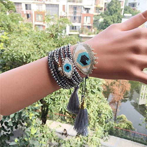 IJEWALRY Pulsera De La Mujer,Pulsera,Pulseras,Moda Personal Elegante Pulsera Turco Evil Eye Charm Bracelet Beads Joyería Mujeres Regalo De Cristal para Niñas