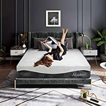 ABAKAN King Mattress 12 Inch Cooling Gel Infused Hybrid Memory Foam Ice Silk Breathable Mattress Cover Pressure Relief Support Responsive Luxury Bed Mattress in a Box