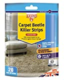 STV International Zero en Tiras para alfombras Beetle Killer (20Tiras Adhesivas, seco hogar Tratamiento, Mata Alfombra Coleópteros, Larvas y Huevos, hasta 6Meses protección)
