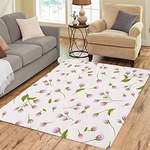 Liz Carter 36X24 inch Flächenteppich Kleine süße Blumen aus antiken Rosen Chabby Chic Boden Teppiche Teppich