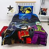 Character World Lego Oficial Batman DC Funda de edredón Individual | diseño de superhéroes | Juego de Ropa de Cama Reversible y Funda de Almohada, Color Azul, LG9CLGDS001UK1