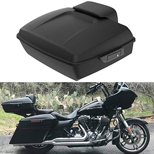 Buy Denim/Matte Black Tour Pack Luggage Backrest Pad Fit for Harley Touring Street Glide Road Glide ...