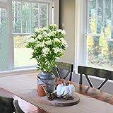 NAHUAA 4pcs Kunstpflanze Klein Plastikblumen Deko Pflanzen Künstliche Pflanze Blume im Topf Tischdeko Blumen für Valentinstag Vase Frühling Stuhl Balkon Garten Hochzeit - 5