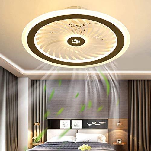 Ventilador De Techo LED Con Iluminación Lámpara De Techo Ventilador Ultra Silencioso Luz De Techo Ventilador Invisible Moderno Velocidad Del Viento Y Temperatura De Color Regulables Ø50CM/116W