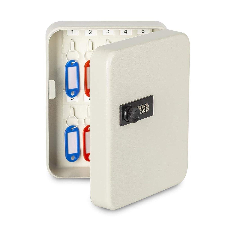 八番屋 キーボックス キーケース 鍵収納 鍵管理 オフィス 家庭 壁掛け 専用キー付き インテリア オシャレ 小型 暗証番号 ダイヤルロック (18キー)
