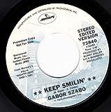 "45vinyl KEEP SMILIN / BABY RATTLE SNAKE (7"" PROMO/45 rpm)"