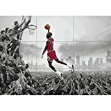 MICHAEL JORDAN NBA SLAM DUNK HUGE GIANT PICTURE AFICHE CARTEL IMPRIMIR CARTELLO POSTER ART JM072