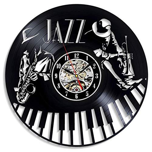 Wanduhr aus Vinyl Vintage CD LP Uhr Modernes Design Jazz Music Theme 3D Dekoration Klassische Uhren Wanduhr Wohnkultur 12 Zoll Xi521