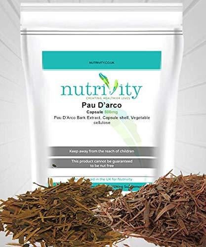Pau D'arco cápsulas de 500 mg por Nutrivity